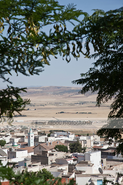 View of Le Kef, the unofficial capital of western Tunisia, as seen from the kasbah (fortress)