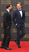 Charlie Cox and Tom Hiddleston at the Olivier Awards 2019, Royal Albert Hall, Kensington Gore, London, England, UK, on Sunday 07th April 2019.<br /> CAP/CAN<br /> ©CAN/Capital Pictures