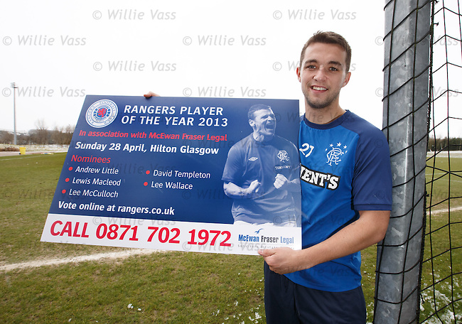 Chris Hegarty promotes the Rangers player of the year awards