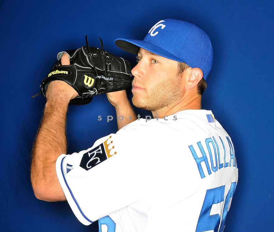 Kansas City Royals Greg Holland (56) during media photo day on February 21, 2013 at spring training in Surprise, AZ.