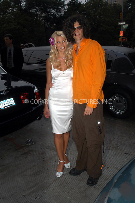 NEW YORK.  BETH OSTROSKY AND HOWARD STERN ATTEND FHM MAGAZINE COVER GIRL PARTY AT WHISKEY PARK.   BOCKLET.