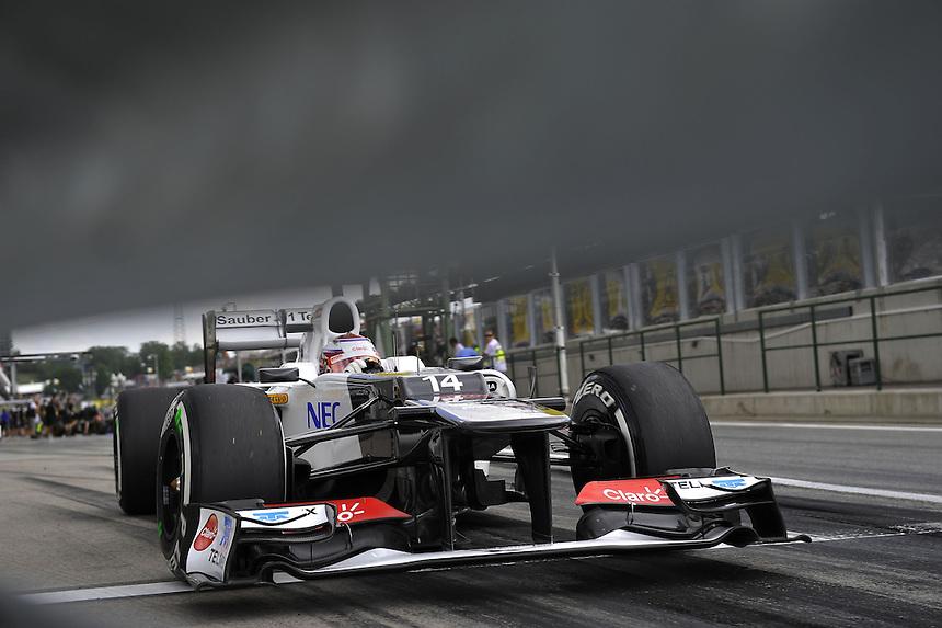 Kamui Kobayashi (JPN), Sauber F1 Team ..2012 FIA Formula One World Championship - Hungarian Formula One Grand Prix, Hungaroring, Budapest, Hungary, Friday 27th July 2012...