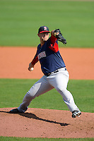 Boston Red Sox pitcher Terry Doyle #79 during a Grapefruit League Spring Training game against the Tampa Bay Rays at Charlotte County Sports Park on February 25, 2013 in Port Charlotte, Florida.  Tampa Bay defeated Boston 6-3.  (Mike Janes/Four Seam Images)