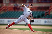Reading Fightin Phils relief pitcher Mario Sanchez (30) delivers a pitch during a game against the Erie SeaWolves on May 18, 2017 at UPMC Park in Erie, Pennsylvania.  Reading defeated Erie 8-3.  (Mike Janes/Four Seam Images)