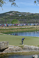 Charl Schwartzel (RSA) watches his putt on 11 during round 1 of the World Golf Championships, Dell Match Play, Austin Country Club, Austin, Texas. 3/21/2018.<br /> Picture: Golffile | Ken Murray<br /> <br /> <br /> All photo usage must carry mandatory copyright credit (&copy; Golffile | Ken Murray)