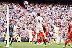 Real Madrid's Sergio Ramos during La Liga match between Real Madrid and Sevilla FC at Santiago Bernabeu Stadium in Madrid, May 14, 2017. Spain.<br /> (ALTERPHOTOS/BorjaB.Hojas)