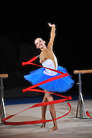 September 13, 2009; Mie, Japan;  Anzhelika Savrayuk of Italian rhythmic group performs during gala after winning gold in group All Around at the 2009 World Championships Mie, Japan. Photo by Tom Theobald.