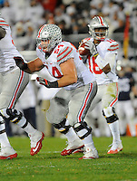 22 October 2016:  Ohio State G Billy Price (54) pass blocks. The Penn State Nittany Lions upset the #2 ranked Ohio State Buckeyes 24-21 at Beaver Stadium in State College, PA. (Photo by Randy Litzinger/Icon Sportswire)