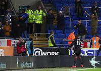 4th February 2020; Cardiff City Stadium, Cardiff, Glamorgan, Wales; English FA Cup Football, Cardiff City versus Reading; Yakou Meite of Reading celebrates after Reading equalize to make it 3-3 in the 116th minute