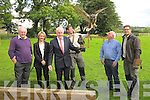 On Sunday at the Conservation Range Crag Caves Castleisland The.Minister for Arts Jimmy Deenihan offically opened the Bird.Conserveration Range with the Minister. L-r: Tim O'Donoghue.(Conversation Ranger), Lisa Geaney (Propiter), Jimmy Deenehan.(Minister for Arts), with an Harris Hawk), Eoin Ryan (Eagle Owl),.Donie Geaney..