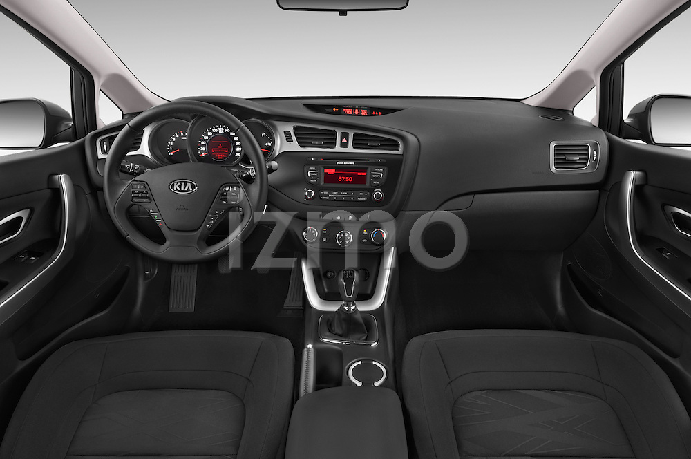 Stock photo of straight dashboard view of a 2014 KIA cee'd Access 5 Door Wagon 2WD Dashboard