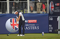 Scott Jamieson (SCO) on the 1st tee during Round 3 of the Sky Sports British Masters at Walton Heath Golf Club in Tadworth, Surrey, England on Saturday 13th Oct 2018.<br /> Picture:  Thos Caffrey | Golffile