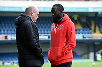 Fleetwood Town's Manager Uwe Rosler talking to  Toumani Diagouraga before the match <br /> <br /> Photographer Hannah Fountain/CameraSport<br /> <br /> The EFL Sky Bet League One - Southend United v Fleetwood Town - Saturday 13th January 2018 - Roots Hall - Southend<br /> <br /> World Copyright &copy; 2018 CameraSport. All rights reserved. 43 Linden Ave. Countesthorpe. Leicester. England. LE8 5PG - Tel: +44 (0) 116 277 4147 - admin@camerasport.com - www.camerasport.com