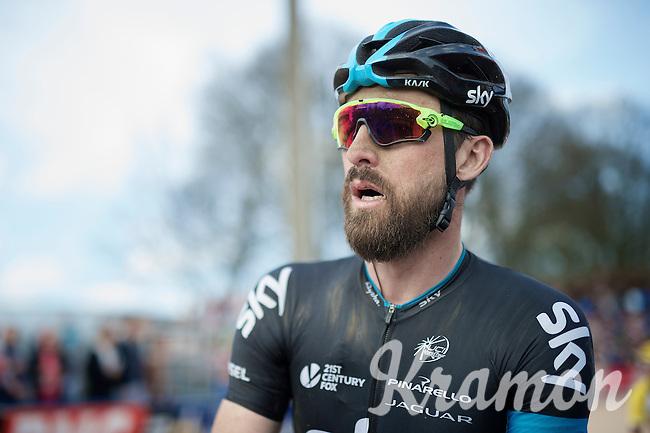 Bernie Eisel's (AUT/SKY) post-race face<br /> <br /> 113th Paris-Roubaix 2015