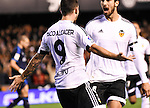 Valencia's  Paco Alcacer and Andre Gomes  during La Liga match. January 3, 2016. (ALTERPHOTOS/Javier Comos)