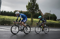After crashing out of the Eneco Tour the week before, Tom Boonen (BEL/Etixx-QuickStep) is to be found at the front during the whole day<br /> <br /> Tour de l'Eurom&eacute;tropole 2016 (1.1)<br /> Poperinge &rsaquo; Tournai (196km)/ Belgium