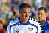 Peter Vermes...Kansas City Wizards defeated New England Revolution 4-1 at Community America Ballpark, Kansas City, Kansas.