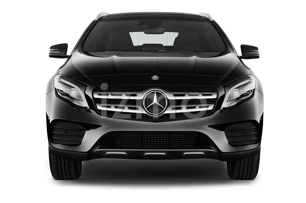 Car photography straight front view of a 2017 Mercedes Benz GLA AMG Line 5 Door SUV