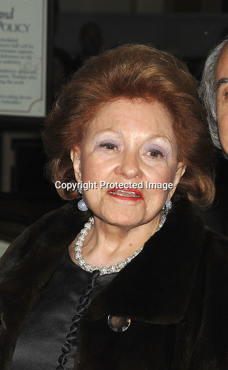 Lillian Vernon..arriving at the Film Society of Lincoln Center's 34th  Gala Tribute to Diane Keaton on April 9, 2007 ...Robin Platzer, Twin Images