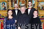 Conductor Aidan O'Carroll with soloists Sarah Ellen Murphy Limerick, Cormac Lawlor Tralee, Fearghal Curtis Dublin and Aisling O'Carroll Tralee  who performed in Handels Messiah with the Kerry Chamber Choir and Orchestra in the Franciscan Friary Killarney on Sunday night
