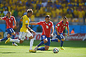 Daniel Alves (BRA), Gonzalo Jara (CHI), JUNE 28, 2014 - Football / Soccer : FIFA World Cup Brazil 2014 round of 16 match between Brazil and Chile at Estadio Mineirao in Belo Horizonte, Brazil. (Photo by FAR EAST PRESS/AFLO)