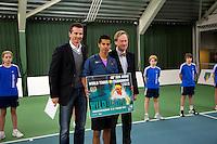 20-01-13, Tennis, Rotterdam, Wildcard for qualification ABNAMROWTT, Richard Krajicek rijkt de wildcard uit aan Fabian van der Lans.