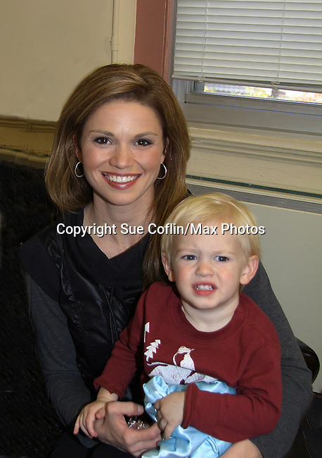 Guiding Light's Mandy Bruno celebrates her son Flynn Bogue's second birthday in January. (Photo by Sue Coflin/Max Photos)
