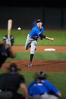 Hudson Valley Renegades pitcher Tyler Brashears (34) delivers a pitch during a game against the Vermont Lake Monsters on September 3, 2015 at Centennial Field in Burlington, Vermont.  Vermont defeated Hudson Valley 4-1.  (Mike Janes/Four Seam Images)