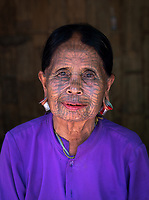 """The Spider Women"" ethnic minority Chin Tribe from the Rakhine State, Myanmar. These are the last 6 women with full facial Tattoos in the design of a spider web hence they been called the Spider Women"