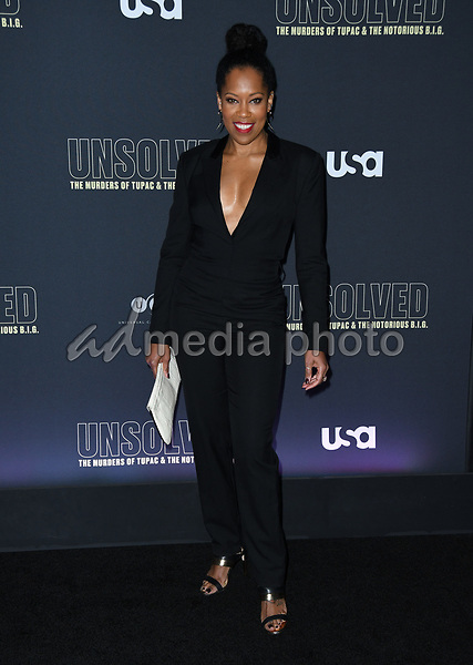 """22 February 2018 - Hollywood, California - Regina King. USA Network's """"Unsolved: The Murders of Tupac & The Notorious B.I.G."""" held at Avalon Hollywood. Photo Credit: Birdie Thompson/AdMedia"""