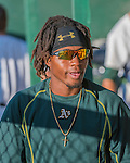 31 July 2016: Vermont Lake Monsters infielder JaVon Shelby stands in the dugout prior to a game against the Connecticut Tigers at Centennial Field in Burlington, Vermont. The Lake Monsters edged out the Tigers 4-3 in NY Penn League action.  Mandatory Credit: Ed Wolfstein Photo *** RAW (NEF) Image File Available ***