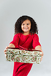 WATERBURY, CT- 10 December 2015-121015EC14-  Christmas Kids Metro. Laila Brown, 5, of Waterbury, says her favorite part of the holiday season is spreading joy. She's hoping for a telescope for Christmas. Erin Covey Republican-American