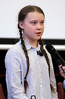 Greta Thunberg<br /> Rome April 18th 2019. Teen climate activist Greta Thunberg takes part in a seminar on climate at the Italian Senate.<br /> photo di Samantha Zucchi/Insidefoto