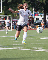 In a National Women's Soccer League Elite (NWSL) match, Portland Thorns FC defeated the Boston Breakers, 2-1, at Dilboy Stadium on July 21, 2013.  Portland Thorns FC forward Alex Morgan (13).