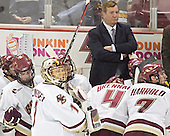 Brett Motherwell, Cory Schneider, Andrew Orpik, Jim Logue, Mike Brennan, Peter Harrold - The Boston College Eagles and University of New Hampshire earned a 3-3 tie on Thursday, March 2, 2006, on Senior Night at Kelley Rink at Conte Forum in Chestnut Hill, MA.  Boston College honored its three seniors, captain Peter Harrold and alternate captains Chris Collins and Stephen Gionta, before the game.