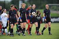 Boyds, MD - Saturday May 6, 2017: Referees prior to a regular season National Women's Soccer League (NWSL) match between the Washington Spirit and Sky Blue FC at Maureen Hendricks Field, Maryland SoccerPlex.