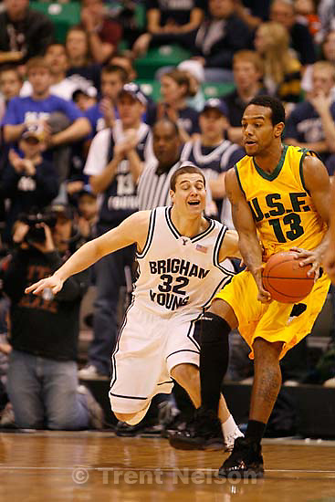 BYU vs. USF college basketball, Saturday, December 5 2009 at EnergySolutions Arena in Salt Lake City.