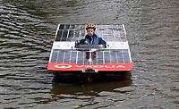 Nederland -  Purmerend - 23 juni  2018.  Solar Sport One race competitie. Wereldkampioenschap Solar Boat racen. Tweedaags evenement in Purmerend met boten die varen op zonne-energie.    Foto Berlinda van Dam Hollandse Hioogte