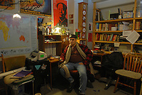 Grant Newburger, 50, a supporter of Bob Avakian's Revolutionary Communist Party, in his apartment at a Cabrini Green high rise building on the northeast corner of Halsted and Division streets at 1230 N. Burling in Chicago, Illinois on December 18, 2007.