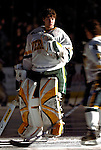 "19 January 2007: University of Vermont goaltender Joe Fallon from Bemidji, MN, greets teammates prior to a Hockey East division matchup against Boston College at Gutterson Fieldhouse in Burlington, Vermont. The UVM Catamounts defeated the BC Eagles 3-2 before a record setting 50th consecutive sellout at ""the Gut""...Mandatory Photo Credit: Ed Wolfstein Photo."