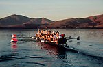 Rowing, US National Men's eight, workout, ARCO Olympic Training Center, Otay Lake, Chula Vista, California, 1996, .