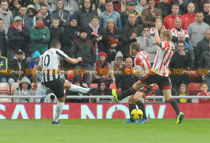 Hatem Ben Arfa of Newcastle United shoots which leads to Mathieu Debuchy's goal - Sunderland vs Newcastle United - Barclays Premier League Football at the Stadium of Light, Sunderland - 27/10/13 - MANDATORY CREDIT: Steven White/TGSPHOTO - Self billing applies where appropriate - 0845 094 6026 - contact@tgsphoto.co.uk - NO UNPAID USE