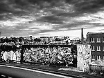 Graffiti on walls in Newcastle England