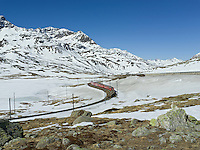 Switzerland, Graubünden, Bernina, Pass, Red Train, Unesco