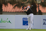 Oscar Henningsson (SWE) tees off at the 1st tee during Day 2 Friday of the Open de Andalucia de Golf at Parador Golf Club Malaga 25th March 2011. (Photo Eoin Clarke/Golffile 2011)