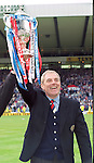 Rangers manager Walter Smith with the Scottish Cup at Hampden in 1996 after Rangers defeated Hearts 5-1