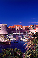 Croatia. Dubrovnik Old City.  Old Port and St John Fort