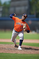 Houston Astros pitcher Manny Ramirez (22) during a Minor League Spring Training Intrasquad game on March 28, 2019 at the FITTEAM Ballpark of the Palm Beaches in West Palm Beach, Florida.  (Mike Janes/Four Seam Images)