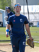 Issued by Cricket Scotland - Scotland assistant coach Toby Bailey in practice ahead of tomorrow's (sat) Scotland V Sri Lanka 1st One Day International at Grange CC, Edinburgh - picture by Donald MacLeod - 17.05.19 - 07702 319 738 - clanmacleod@btinternet.com - www.donald-macleod.com