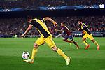 UEFA Champions League 2013/2014.<br /> Quarter-finals 1st leg.<br /> FC Barcelona vs Club Atletico de Madrid: 1-1.<br /> David Villa.